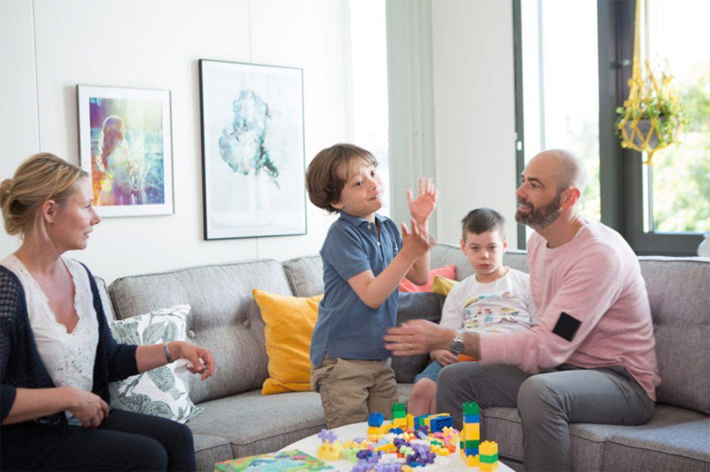 Familj med funktionshindrat barn